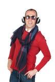 Sympathetic man with headphone Stock Photos