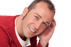 Sympathetic man smiling Stock Photo
