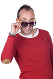 Sympathetic man with sunglasses Royalty Free Stock Photography