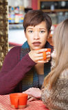 Sympathetic Woman with Friend Stock Photos