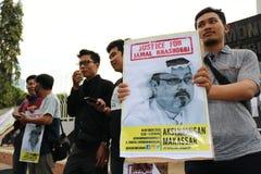 Sympathie pour la mort de Jamal Khashoggi images stock