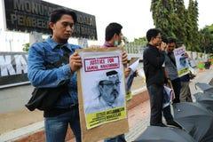 Sympathie pour la mort de Jamal Khashoggi photographie stock libre de droits