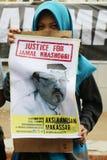 Sympathie pour la mort de Jamal Khashoggi photos libres de droits