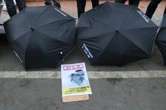 Sympathie pour la mort de Jamal Khashoggi images libres de droits