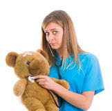 Sympathizing with child patient Royalty Free Stock Photo