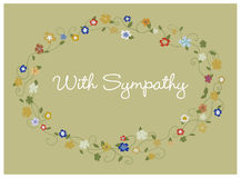 Sympathy card Royalty Free Stock Images