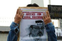 Sympathy for the death of Jamal Khashoggi royalty free stock photo