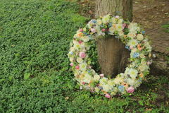 Sympathy wreath in pastel colors Royalty Free Stock Photography
