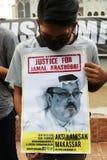 Sympati för döden av Jamal Khashoggi arkivfoton