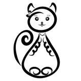 Sympatia kota modna kreatywnie dziewczyna ilustracja wektor