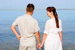 Sympatie target1565_0_ przy morze Zdjęcia Royalty Free