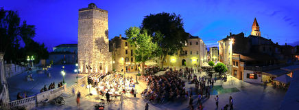 Symphoni orchestra on the open in Zadar Royalty Free Stock Photography