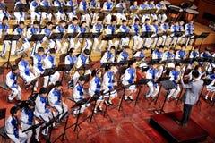 symphonic banddeltagare Fotografering för Bildbyråer
