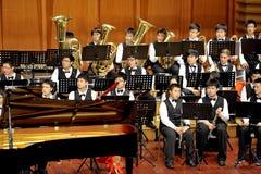 symphonic banddeltagare Arkivbild