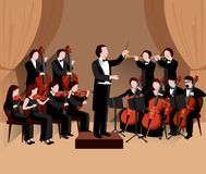 Symphonic Orchestra Flat Royalty Free Stock Photos