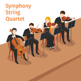 Symphonic orchestra string quartet vector Stock Image