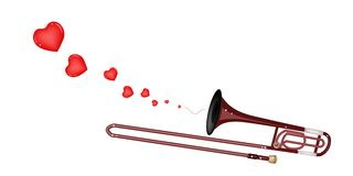 A Symphonic Trombone Blowing A Lovely Heart Stock Photo
