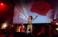 Symphonica 2 hizo en Polonia la música de culto, de los grupos del metro, de la roca, del metal y del punky polacos a partir de l Imagen de archivo libre de regalías