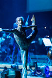 Symphonica - Multimediaschauspiel mit Musik durch Metallica, Nirwana, Perlen-Stau, Deep Purple, AC/DC, schießt N'Roses, Aerosmi Stockbilder