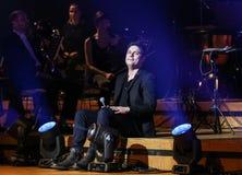 Symphonica - Schauspiel mit Musik durch Metallica, Nirwana, Perlen-Stau, Deep Purple, AC/DC, Aerosmith Lizenzfreies Stockfoto