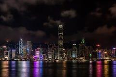 Symphonie de Hong Kong des lumières images libres de droits
