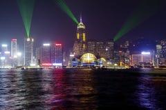 """Symphonie de la Chine, légère et saine d'exposition de Hong Kong, """"des lumières sur le remblai de Victoria photographie stock"""