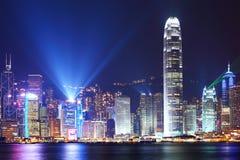 Symphonie de lumière en Hong Kong images libres de droits