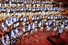 Symphonisches Band des Kursteilnehmers Stockbild