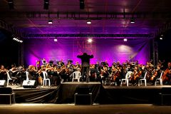Symphonisches Orchester Stockfoto