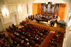 Symphony. The big hall of the symphony Royalty Free Stock Photography