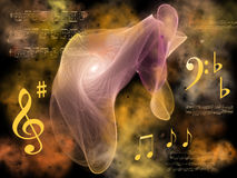 Symphony. Music abstract background with strange attractor Stock Image
