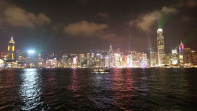 Symphony of Light show in Hong Kong stock video footage
