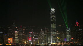 Symphony of Lights in Hong Kong stock video