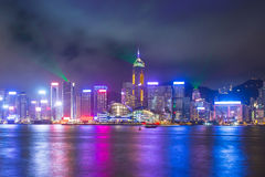 A Symphony of Lights show in Hong Kong, China stock photo