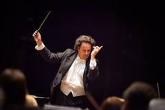 Conductor Hobart Earl stock photo