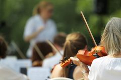 Symphony Orchestra Performance Royalty Free Stock Images