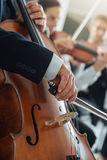 Symphony orchestra performance, string section Royalty Free Stock Photography