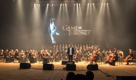 Symphony Orchestra show The Game of Thrones in Kyiv royalty free stock photography