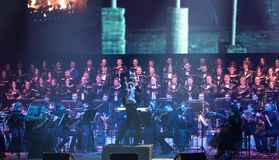 Symphony Orchestra show The Game of Thrones in Kyiv royalty free stock photo