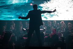 Symphony Orchestra Show The Game Of Thrones In Kyiv Stock Images