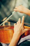 Symphony orchestra on stage Royalty Free Stock Images