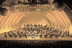 Symphony plays Tchaikovsky at the Hollywood Bowl, Los Angeles, California Stock Photography