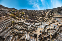 Symphony of Stones basalt columns, Garni canyon, Armenia Stock Images