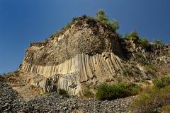 Geological `Symphony of the Stones` Garni, Armenia. `Symphony of the Stones` geological rock formation basalt columns in the gorge near Garni, Armenia royalty free stock photography
