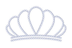 Symple style silver tiara with diamonds. Royalty symbol stock illustration