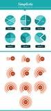 Symplicystyczni - Nowożytny Infographic zestaw - 3 Obrazy Royalty Free