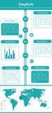 Symplicystyczny - Nowożytny Infographic zestaw - 1 Obraz Royalty Free