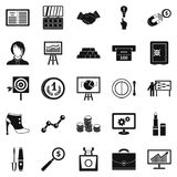 Symposium icons set, simple style Royalty Free Stock Photography