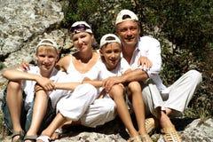 Sympothetic family travelers Royalty Free Stock Photos