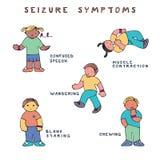 Symptômes de saisie d'épilepsie illustration libre de droits
